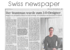Bibi cartoon animation on swiss newspaper article aargauer zeitung