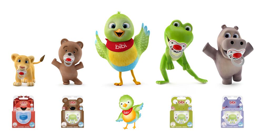bibi swiss soother family cartoon team